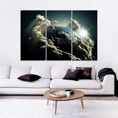 Earth & clouds Canvas Set - Canvasist