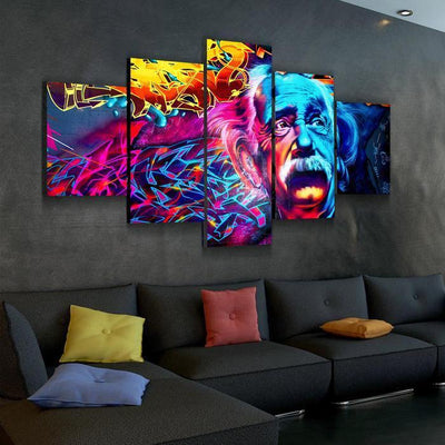 Psychedelic Einstein canvas set