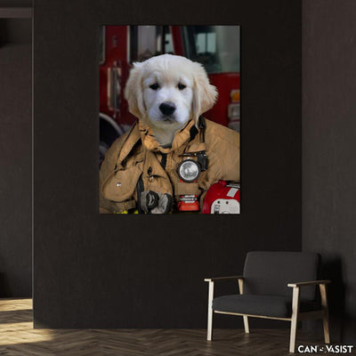 Firefighter Pet Canvas - Canvasist