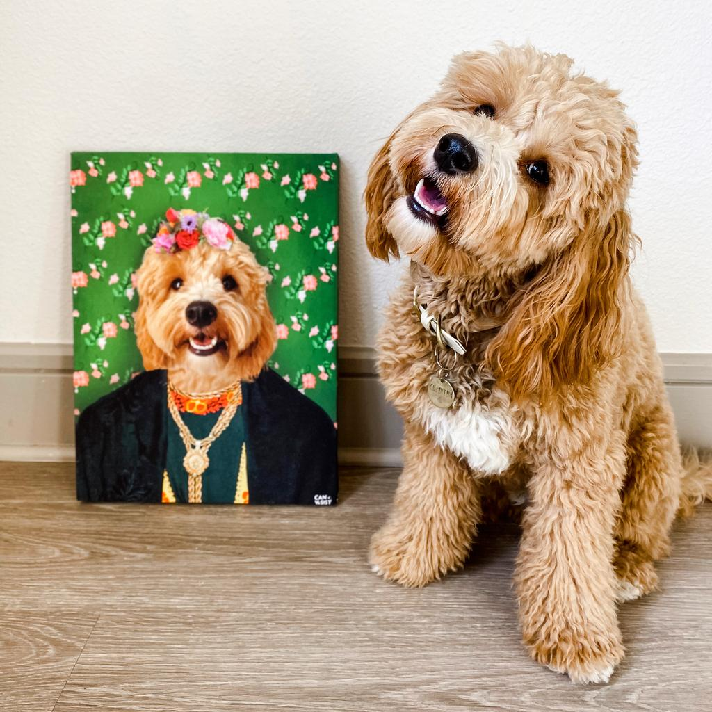 Frida Doggo Pet Canvas - Canvasist