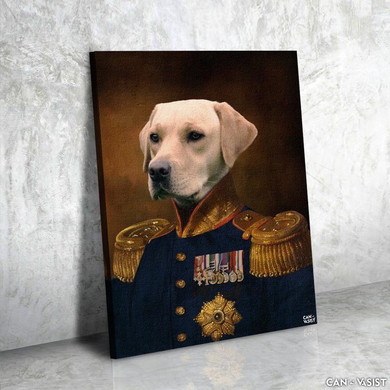 The Colonel Pet Canvas