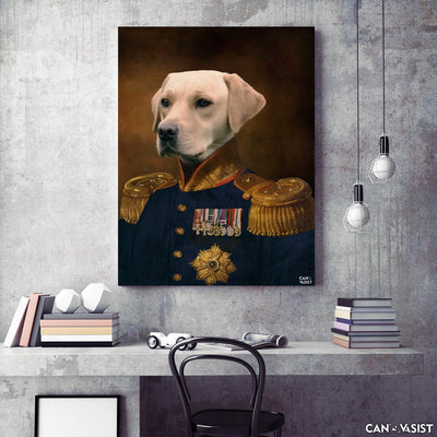 The Colonel Pet Canvas - Canvasist