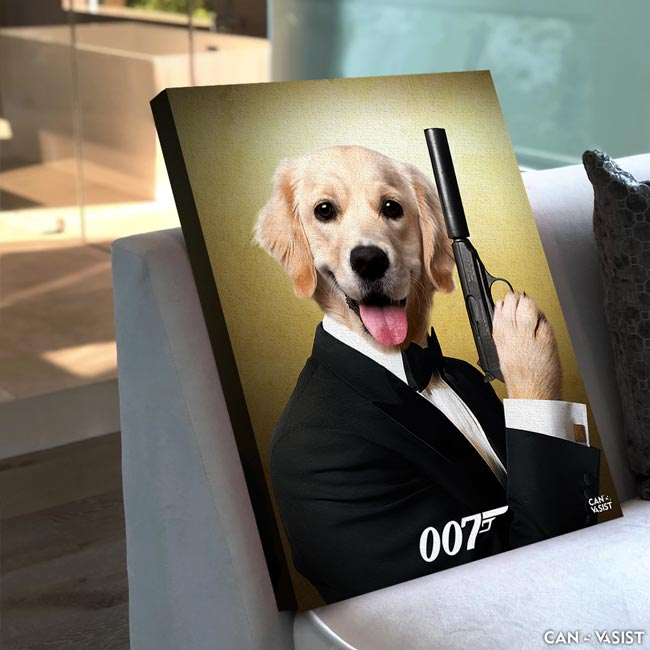 James Bond Pet Canvas