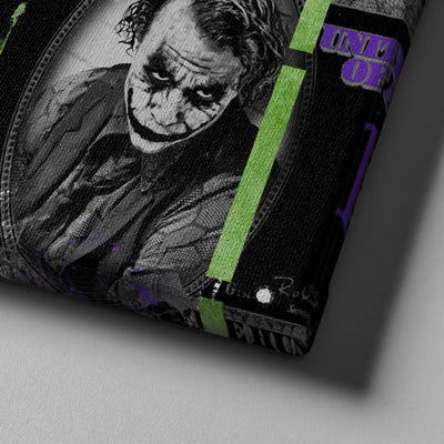 Joker Dollar Canvas - Canvasist