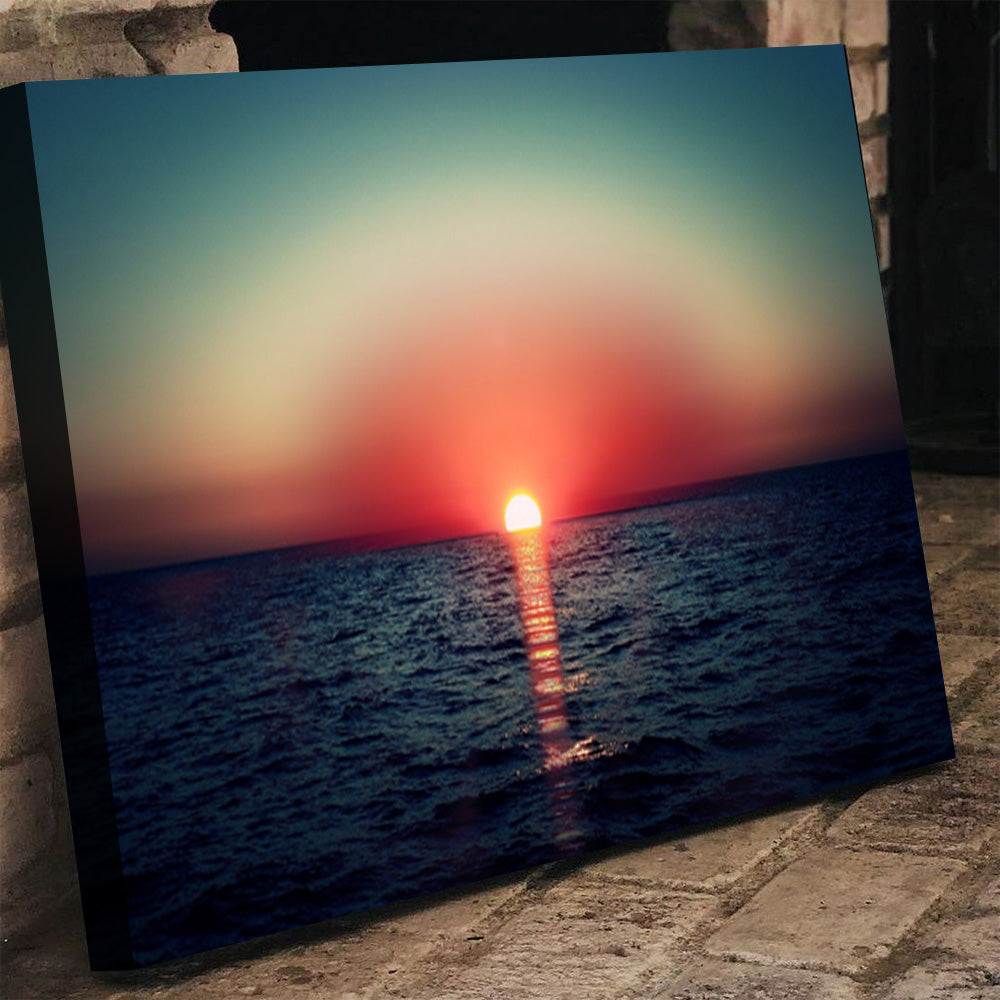 Sunset in Ocean Canvas Set - Canvasist