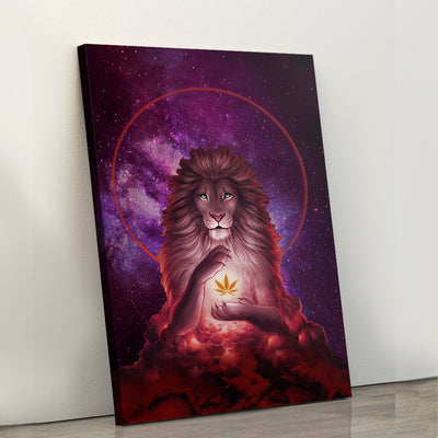 Psychedelic Lion - Canvasist