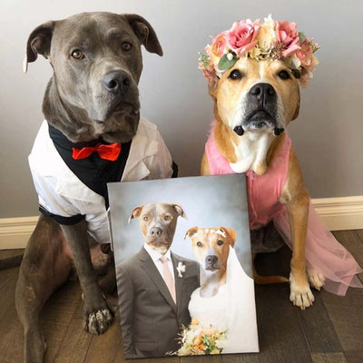 Married Couple Pet Canvas