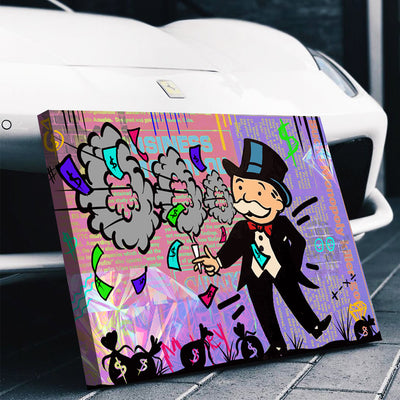 Monopoly Man High Life Canvas Set - Canvasist