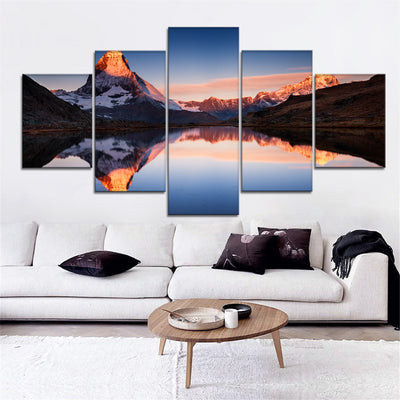 Mountain reflections Canvas Set - Canvasist