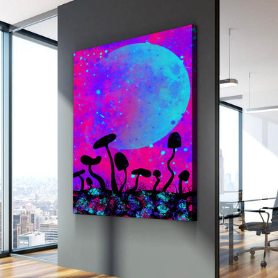 Neon shroom Canvas Set - Canvasist