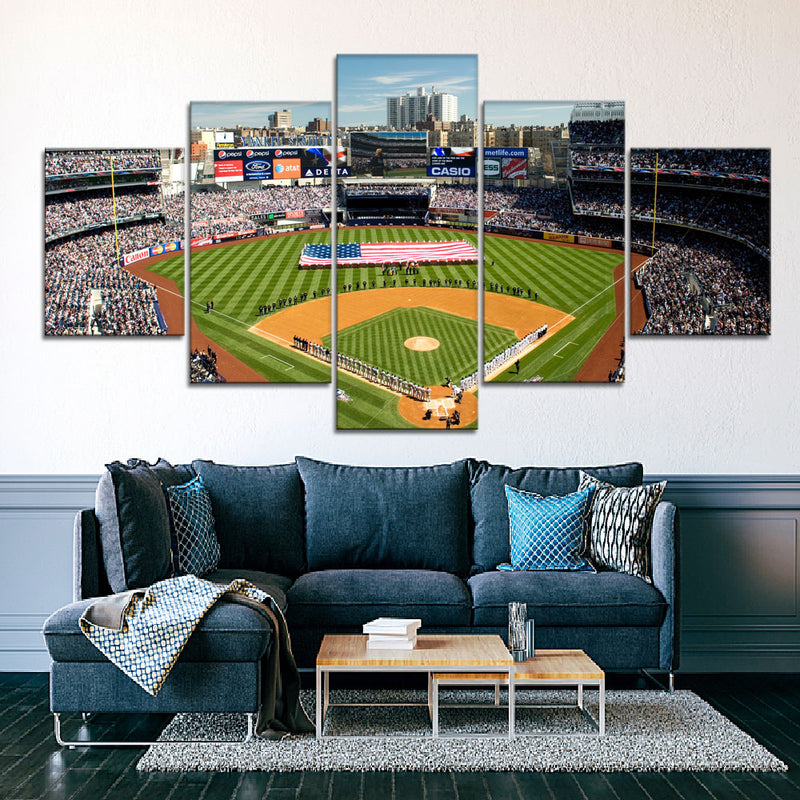 The Yanks Stadium (3) Canvas Set