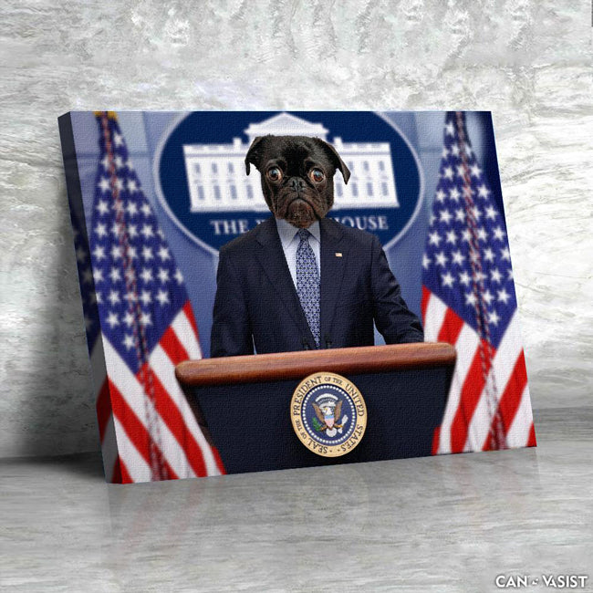 Pawsident of United States Pet Canvas - Canvasist