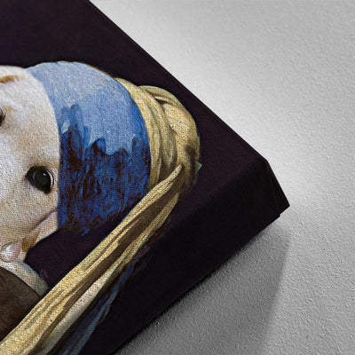 Pearl Earring Pet Canvas - Canvasist