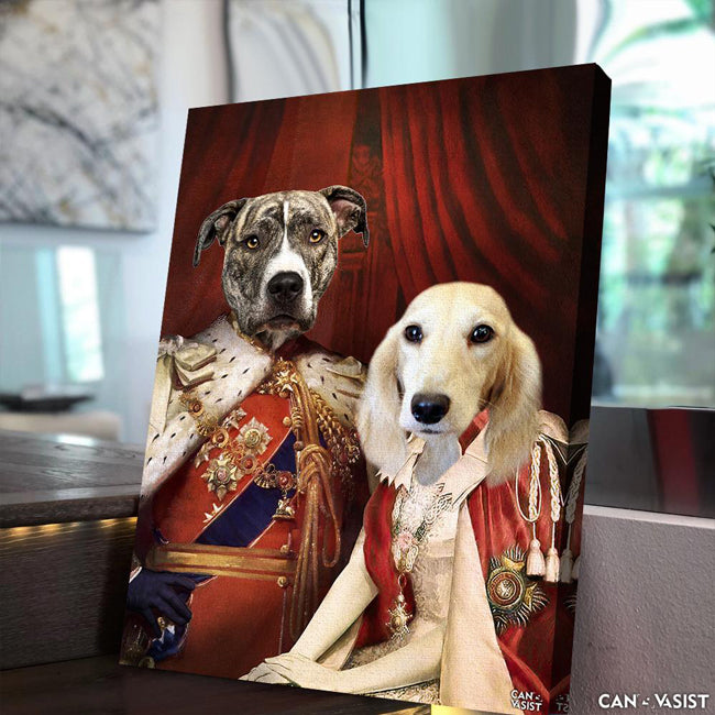 Royal  Couple Pet Canvas - Canvasist