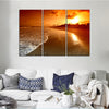 Sea Waves Sunrise Canvas Set