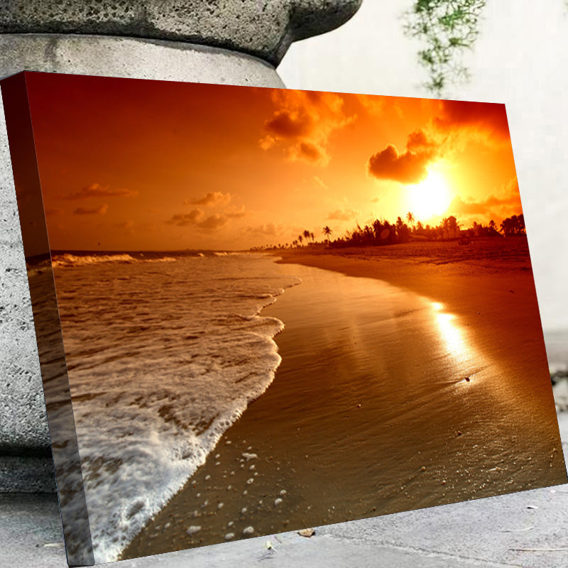 Sea Waves Sunrise Canvas Set - Canvasist