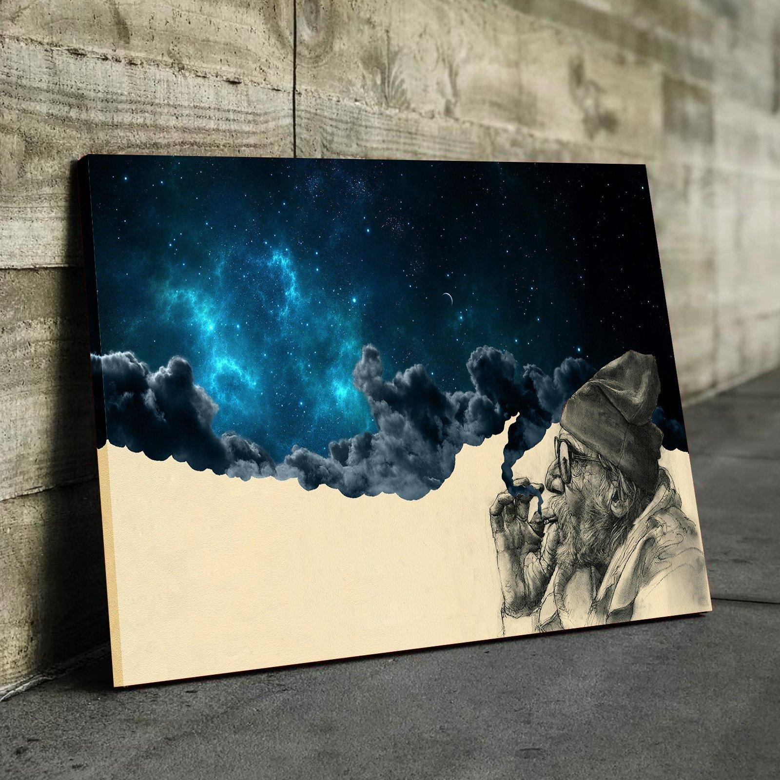 Smoking Man Space Canvas Set