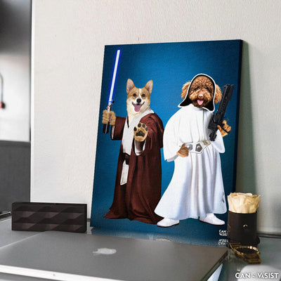 Star Paws Two Pet Canvas - Canvasist