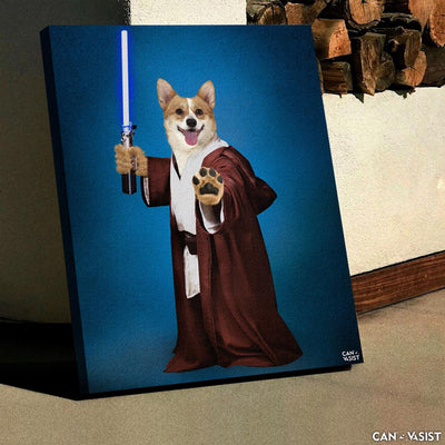 Star Paws Warrior Pet Canvas - Canvasist
