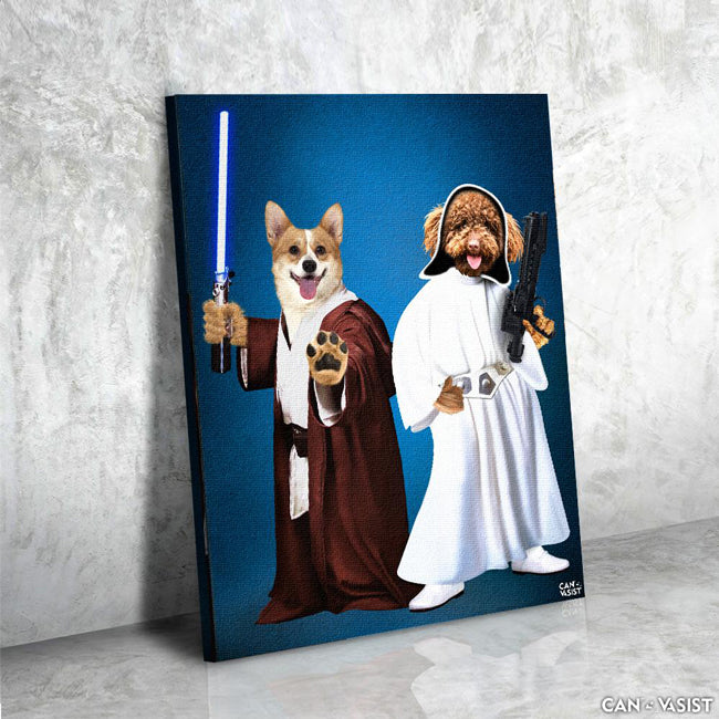 Star Paws Two Pet Canvas