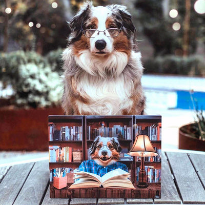 Studious Pet Canvas