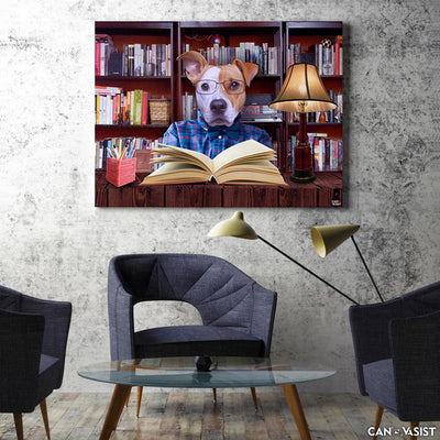 Studious Pet Canvas - Canvasist