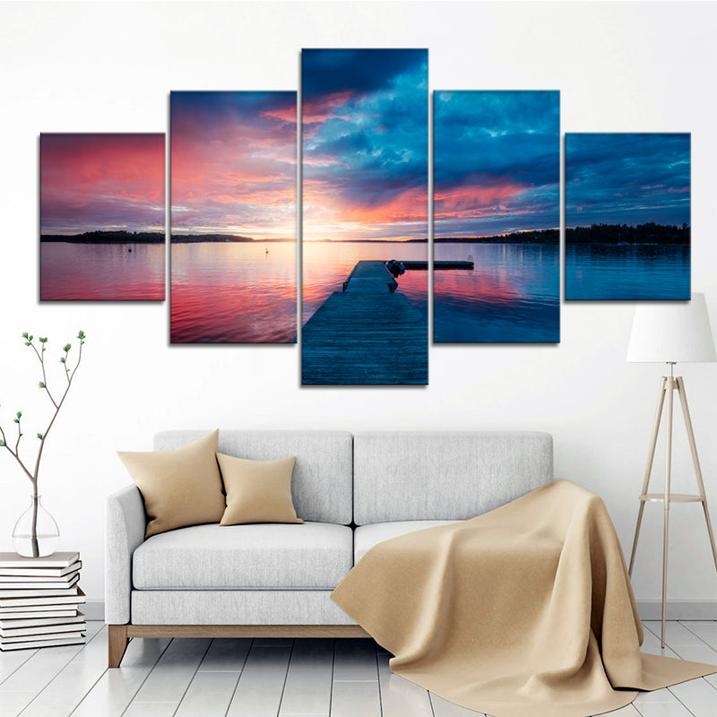 Sunset by the pier Canvas Set - Canvasist