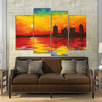 Sunset Painting Canvas Set