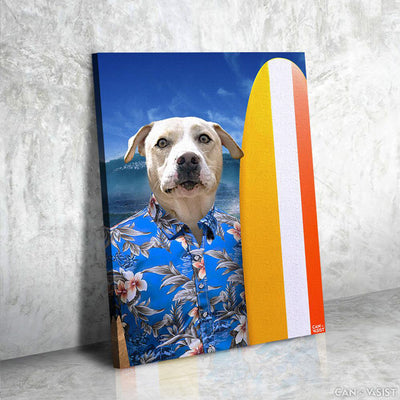 Surfer Pet Canvas - Canvasist