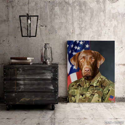 US Army Pet Canvas Set - Canvasist