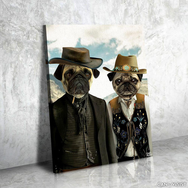 Western Couple Pet Canvas - Canvasist