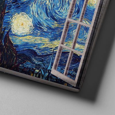 Starry night window view Canvas Set - Canvasist