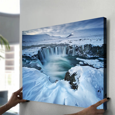Winter Waterfall Canvas Set - Canvasist