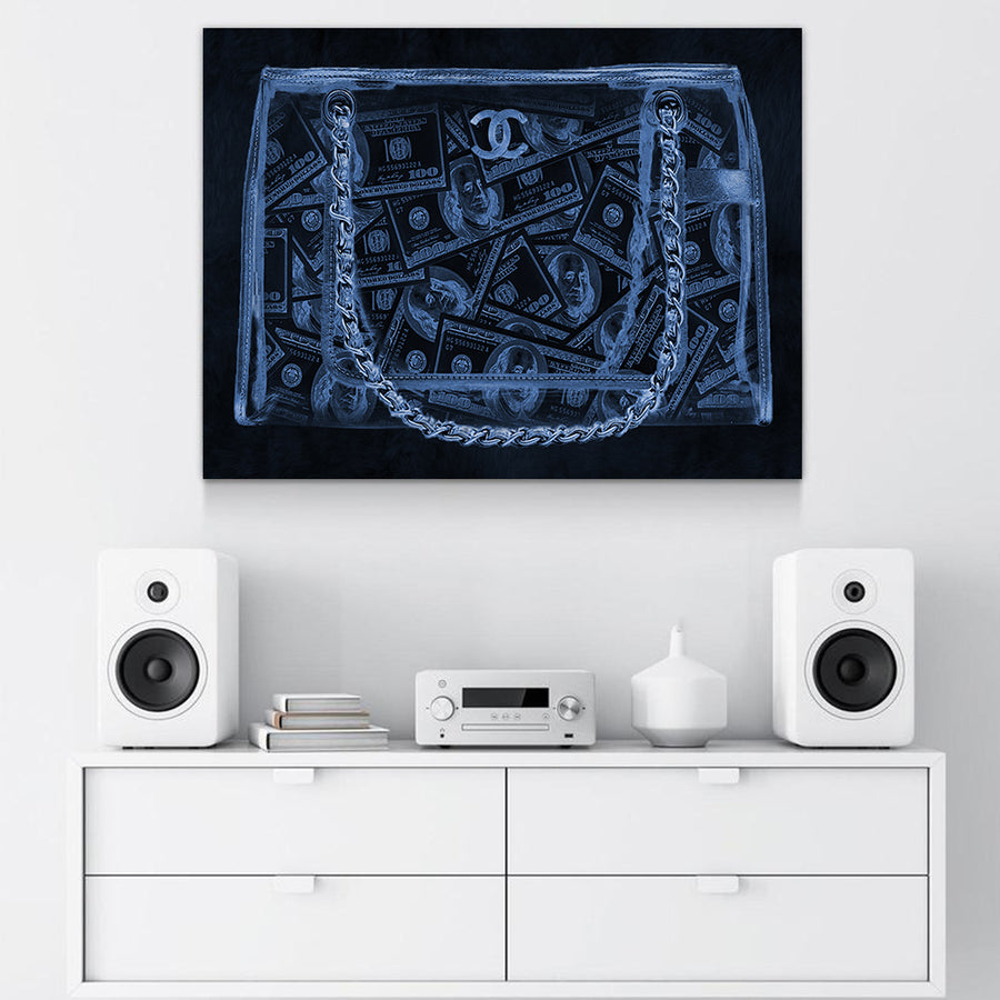 Couture X-ray Money Bag Art - Canvasist