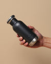 300ml black bq bottle with hand for size reference