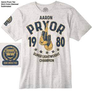AARON PRYOR OFFICIAL NVBHOF T-SHIRT - 2018 INDUCTEE