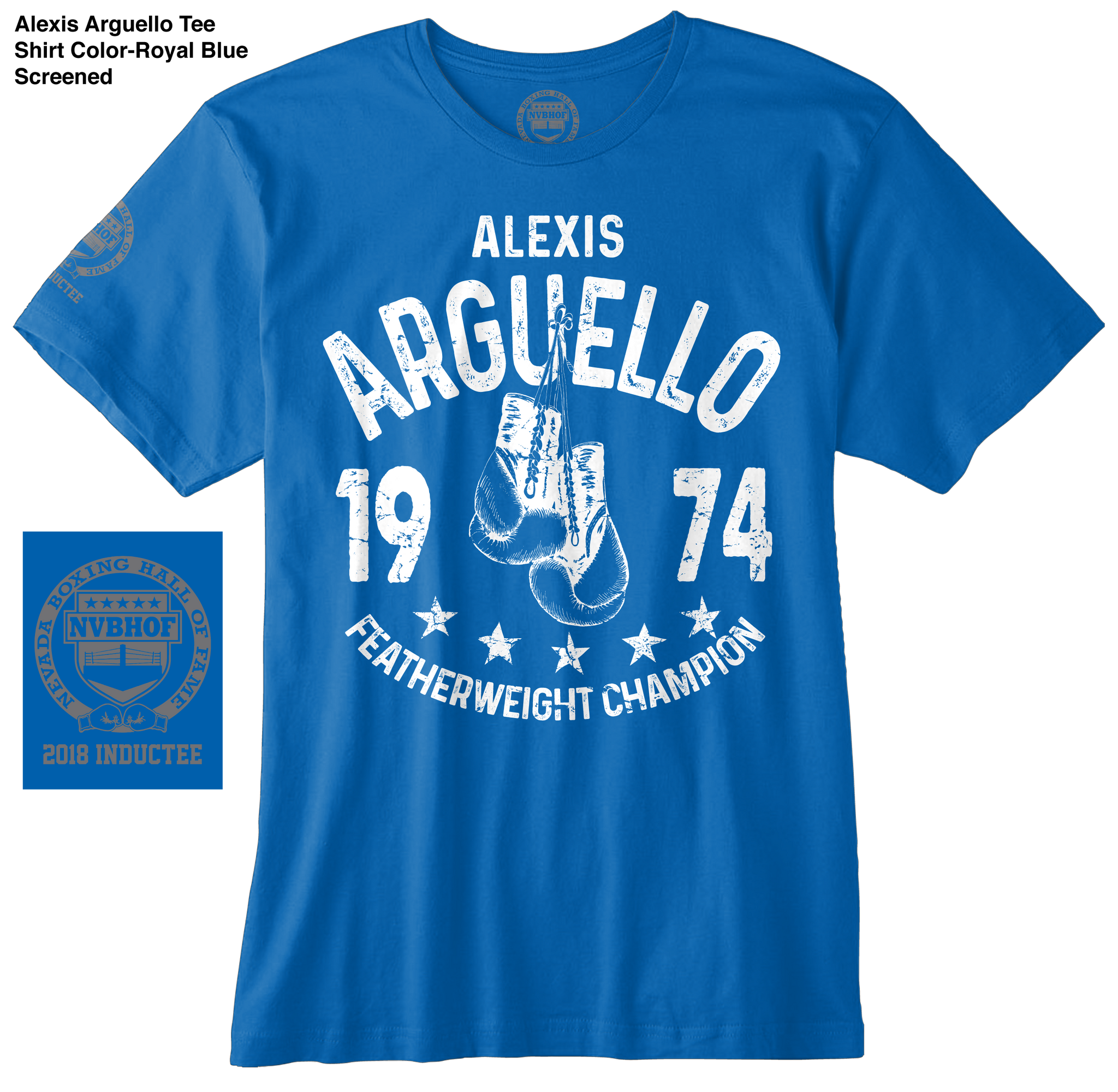 ALEXIS ARGUELLO OFFICIAL NVBHOF T-SHIRT - 2018 INDUCTEE