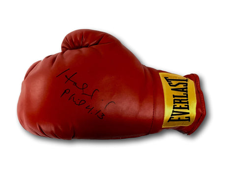 EVANDER HOLYFIELD SIGNED BOXING GLOVE