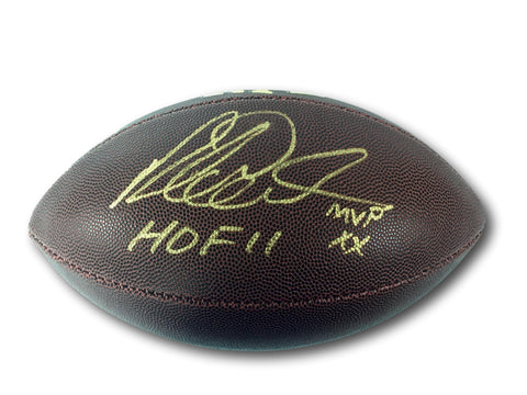 RICHARD DENT AUTOGRAPHED FOOTBALL CHICAGO BEARS