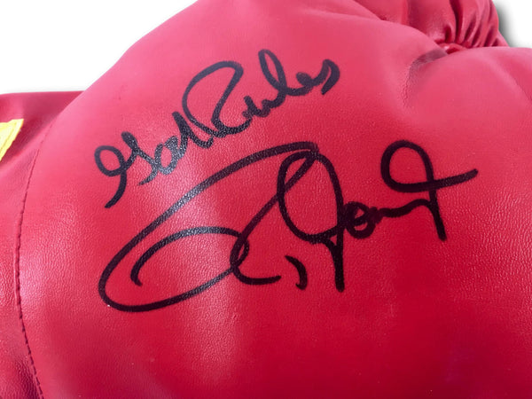 "ROY JONES JR. SIGNED AND INSCRIBED ""GOD RULES"" BOXING GLOVE"