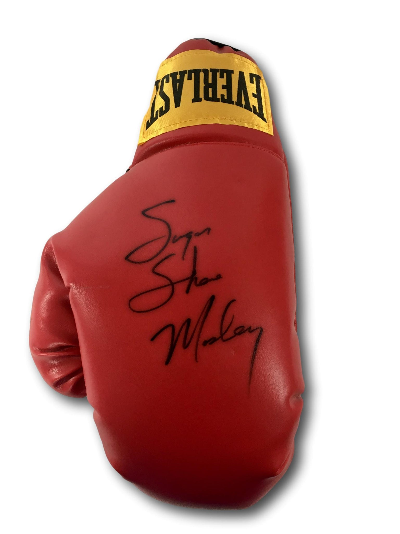 SHANE MOSLEY SIGNED RED BOXING GLOVE