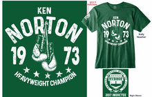 "KEN ""JAWBREAKER"" NORTON ""1973 HEAVYWEIGHT CHAMPION"" OFFICIAL NVBHOF T-SHIRT"