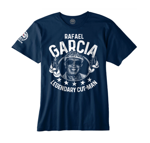"RAFAEL GARCIA ""LEGENDARY BOXING CUT-MAN"" OFFICIAL NVBHOF T-SHIRT"