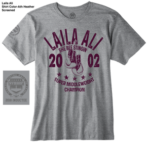 LAILA ALI OFFICIAL NVBHOF T-SHIRT - 2018 INDUCTEE