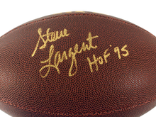 STEVE LARGENT AUTOGRAPHED FOOTBALL SEATTLE SEAHAWKS