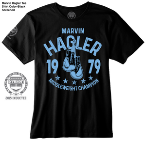 MARVIN HAGLER OFFICIAL NVBHOF T-SHIRT - 2015 INDUCTEE