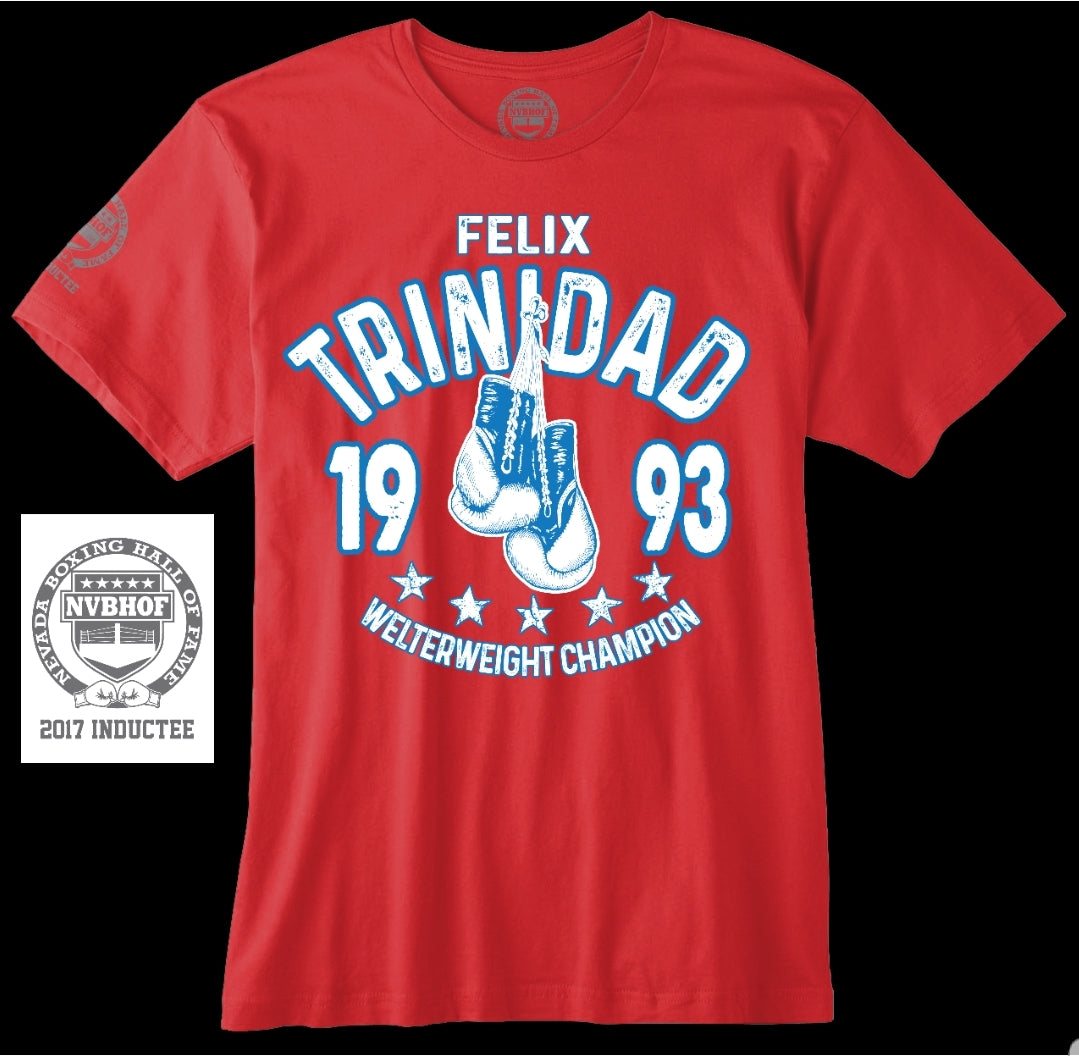 FELIX TRINIDAD OFFICIAL NVBHOF T-SHIRT - 2017 INDUCTEE