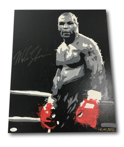 MIKE TYSON SIGNED ORIGINAL ART CANVAS PAINTING 16X20 - OWNED BY TYSON