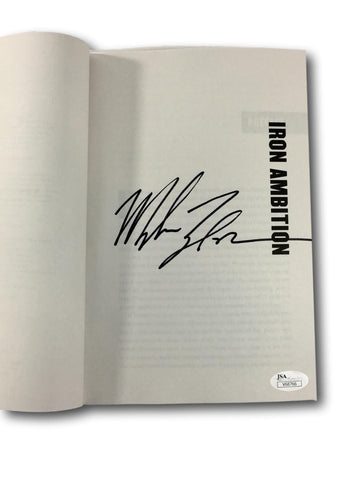 MIKE TYSON SIGNED BOOK IRON AMBITION