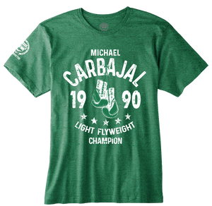"MICHAEL CARBAJAL ""1990 LIGHT FLYWEIGHT CHAMPION"" OFFICIAL NVBHOF T-SHIRT"